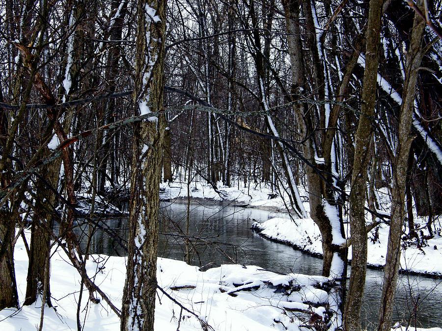 Snow Photograph - Nancys Creek by Martin Morehead