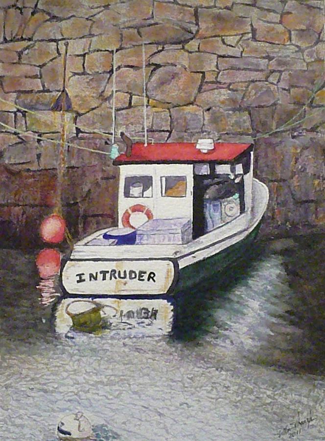 Boat Painting - Nancys Intruder by Stella Schaefer