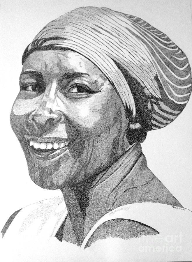 Female Portraits Painting - Nanna Smiles by J White Burton