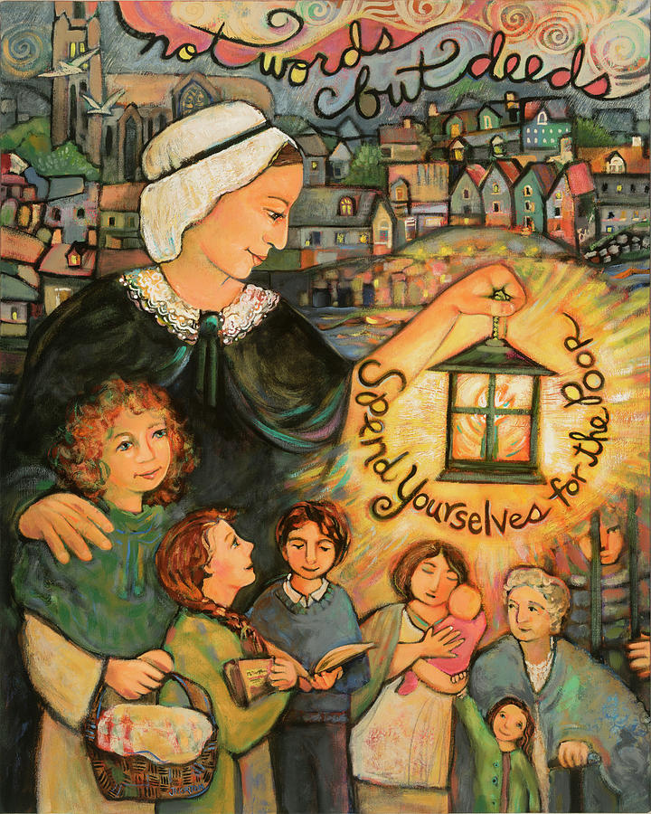Cork City Painting - Nano Nagle, Foundress Of The Sisters Of The Presentation by Jen Norton