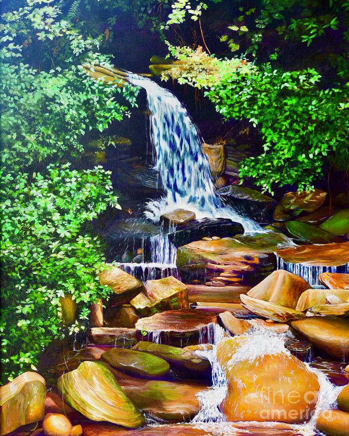 Nantahala Waterfall by AnnaJo Vahle