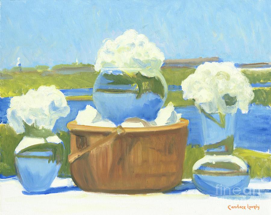 Nantucket Painting - Nantucket Baptismal Sunday  by Candace Lovely