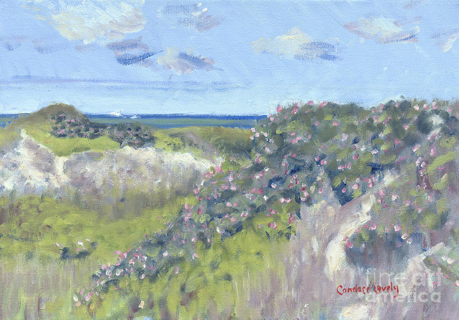 Nantucket Painting - Nantucket June Dunes I by Candace Lovely