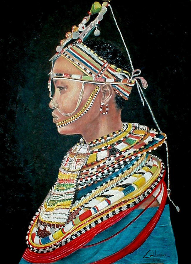 Maasai Painting - Nanu by G Cuffia