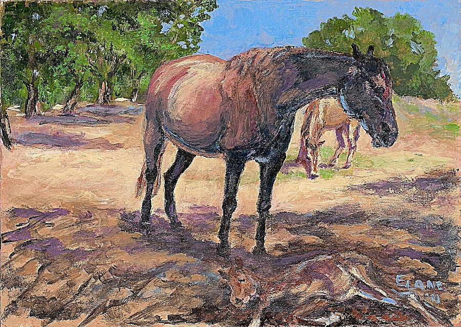 Horses Painting - Nap Time by Elizabeth Lane