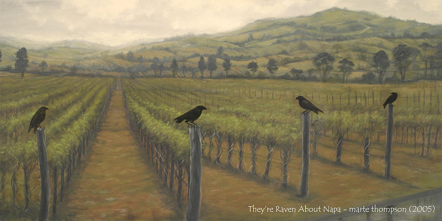 Napa Painting - Napa Ravens by Marte Thompson