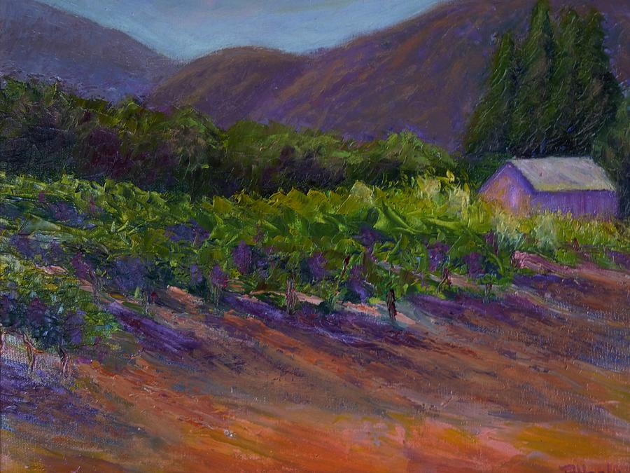 Landscape Painting - Napa Vineyard by Bonnie Hanly