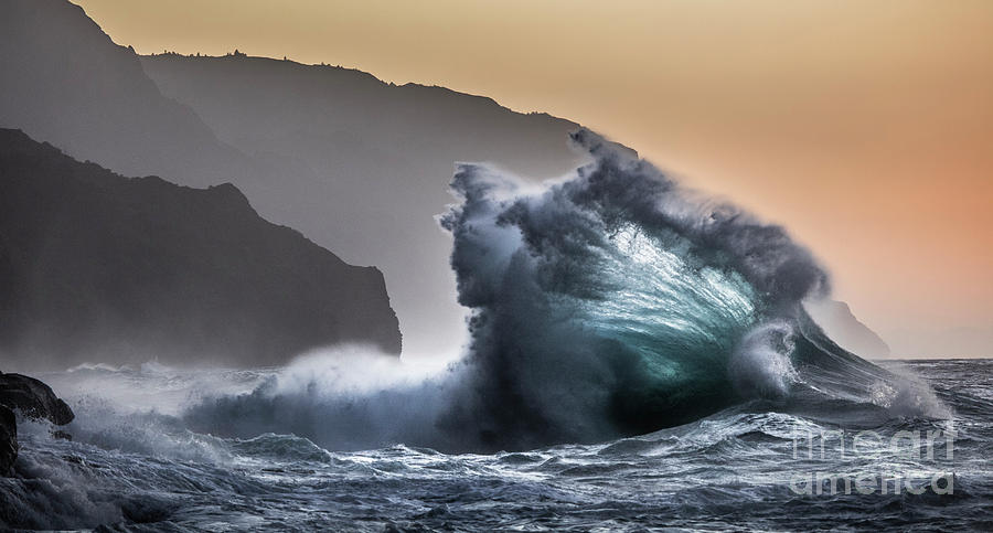 Napali Coast Hawaii Wave Explosion III by Dustin K Ryan