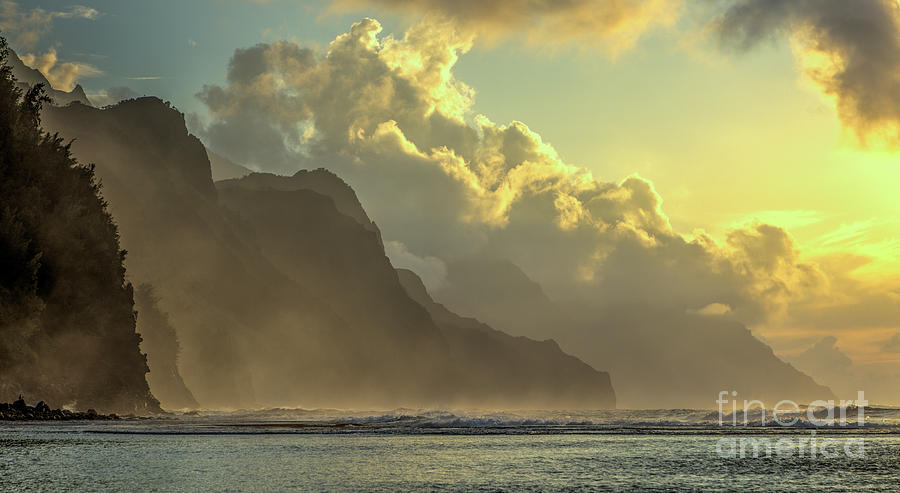 Napali Coast Kauai Hawaii Dramatic Sunset by Dustin K Ryan