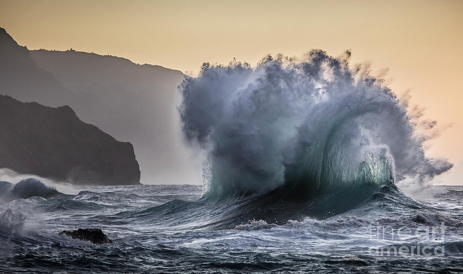 Napali Coast Kauai Wave Explosion by Dustin K Ryan