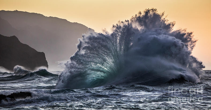 Napali Coast Kauai Wave Explosion Hawaii by Dustin K Ryan