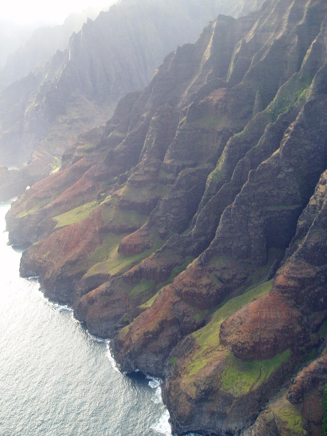 Landscape Photograph - Napali Coast Morning Mist by JD Schaefer