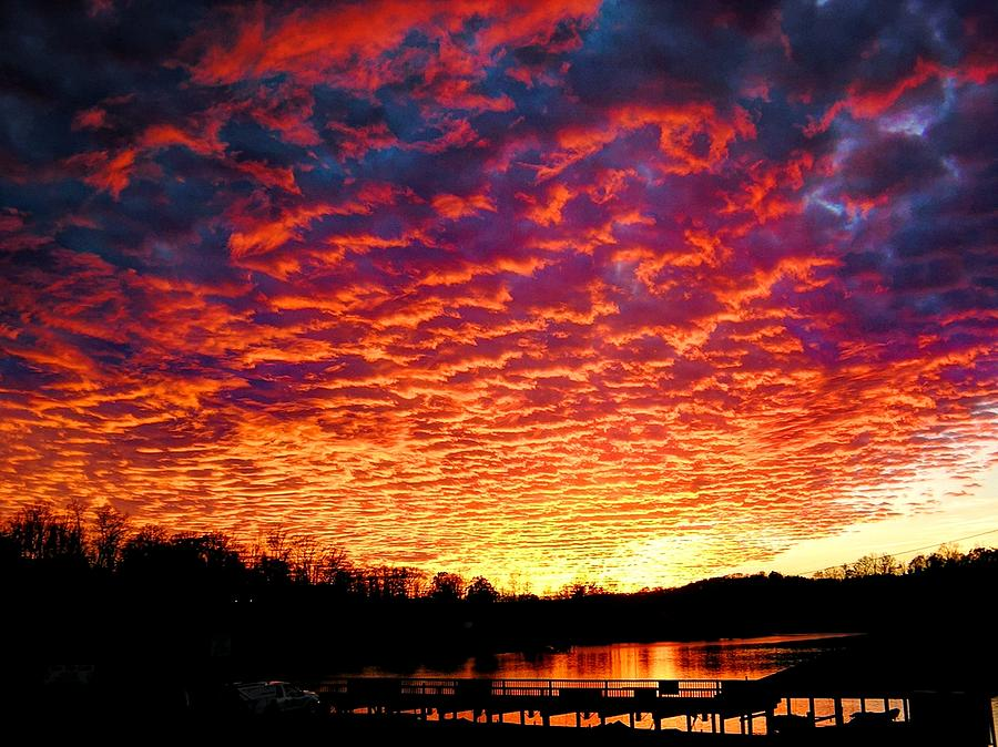 Sunset Photograph - Napalm Clouds by Andrew Webb