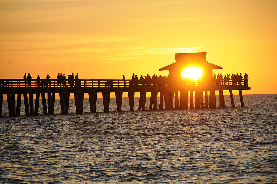 Naples Photograph - Naples Florida Sunset Pier by Keith Lovejoy