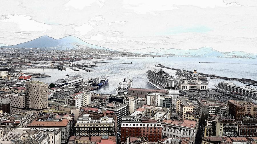 Naples, Italy -digital Digital Art