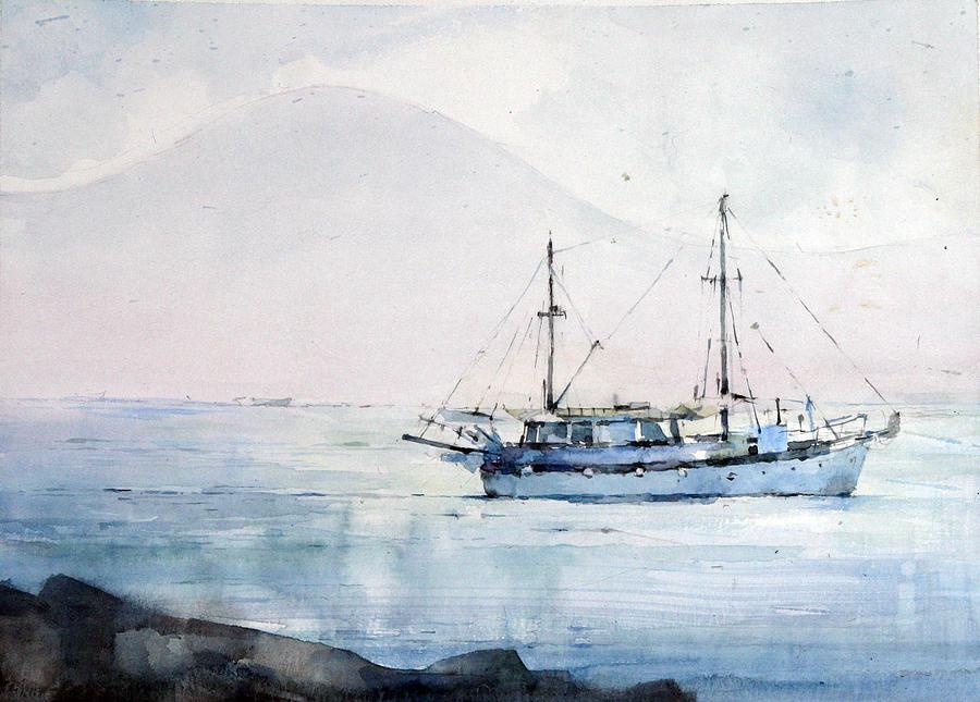 Naples Painting - Naples - Italy by Natalia Eremeyeva Duarte