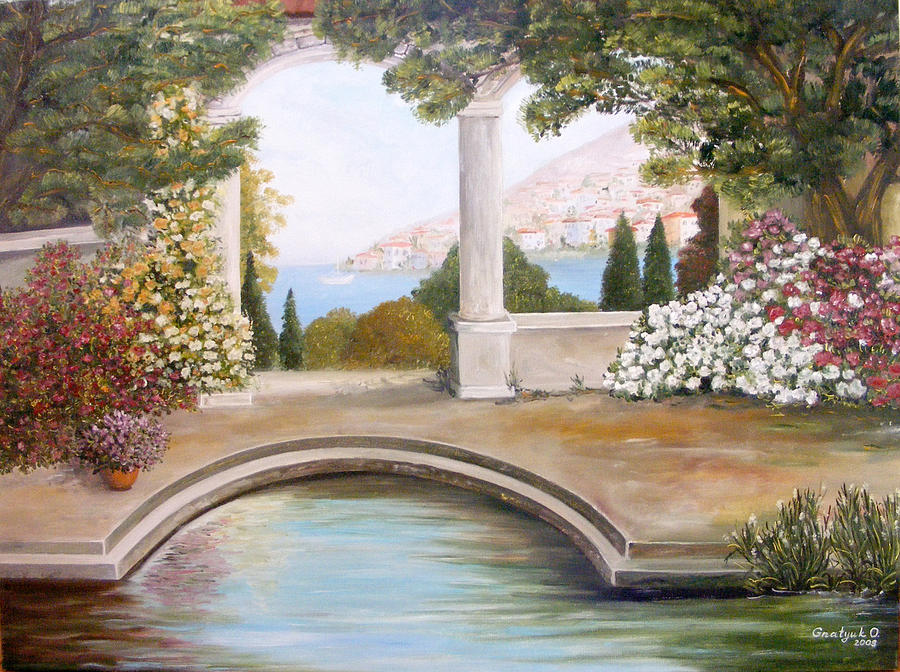 Rose Garden Painting - Naples by  Oksana Gnatyuk