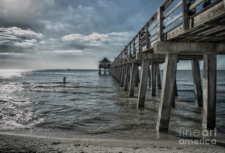 Naples Photograph - Naples Pier And Beach Fun by Judy Hall-Folde