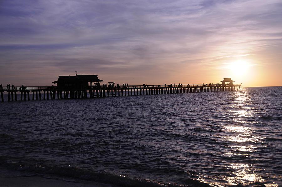 Naples Photograph - Naples Pier Sundown by Keith Lovejoy
