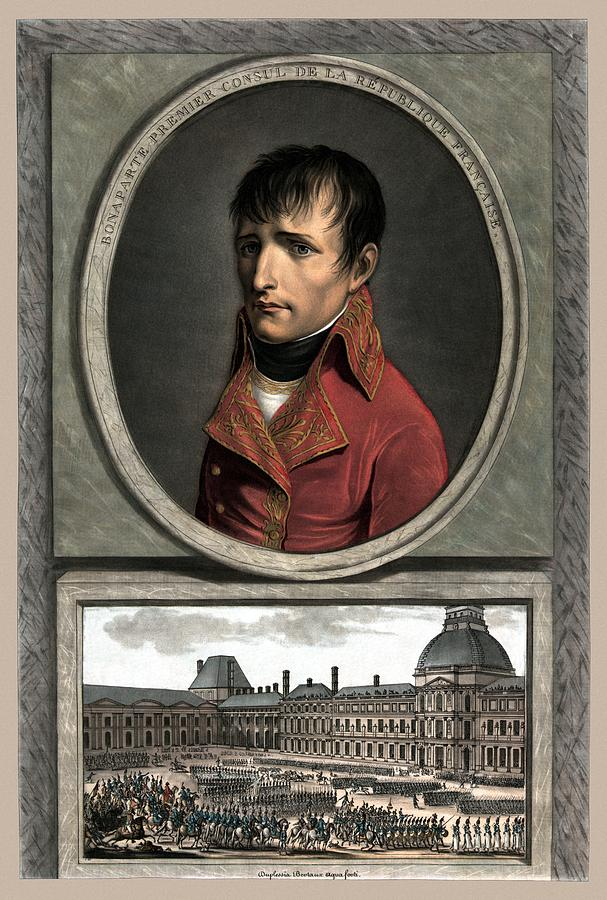 Napoleon Painting - Napoleon Bonaparte And Troop Review by War Is Hell Store