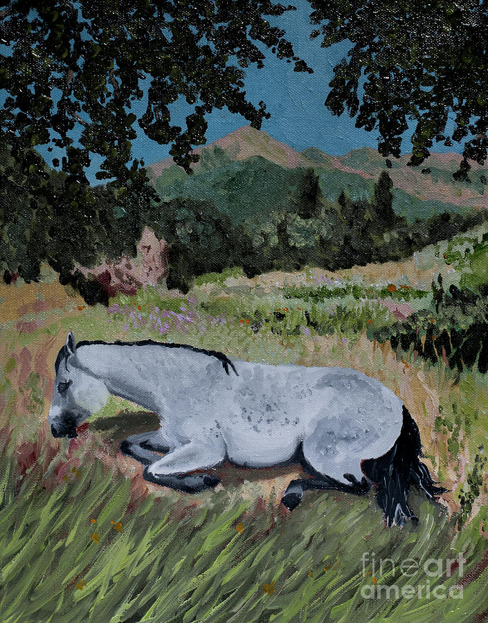 Napping Horse by Jackie MacNair