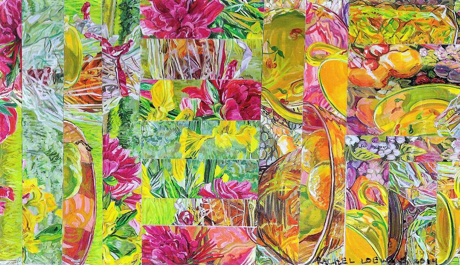 Abstract Collage Mixed Media - Naptime Collage 08 by Rachel Loewens