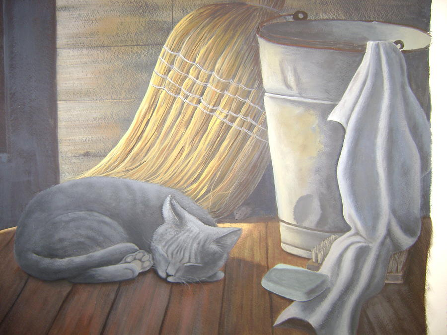 Mouse Painting - Naptime by Judy Keefer