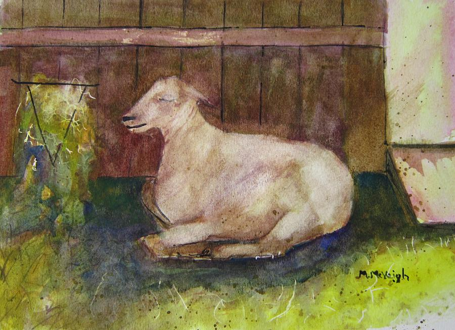 Sheep Painting - Naptime On The Farm by Marita McVeigh