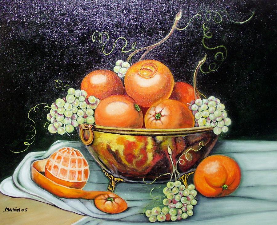 Naranjas Painting by Rafael Marin