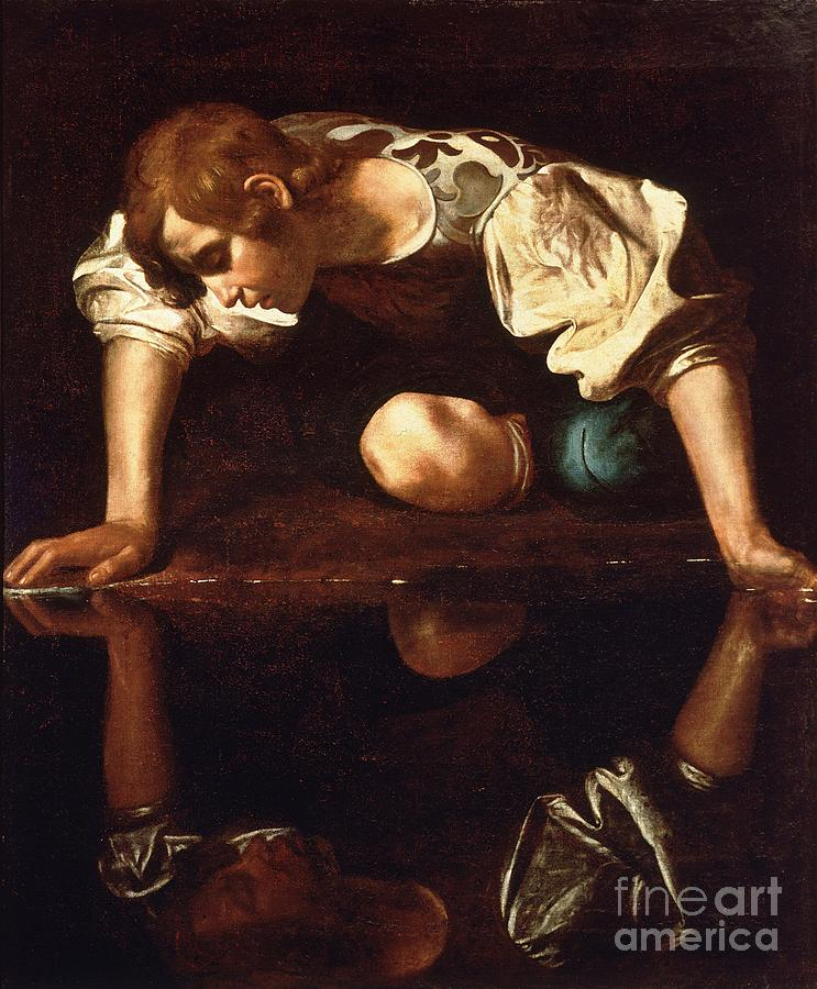 Baroque Paintings Painting - Narcissus by Pg Reproductions