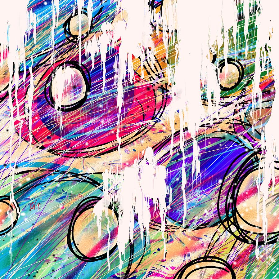 Abstract Digital Art - Narcotics Of The Mind by Rachel Christine Nowicki
