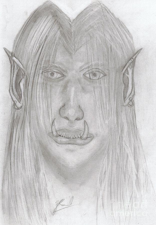 World Of Warcraft Drawing - Narkra Rok by Zach Rodgers