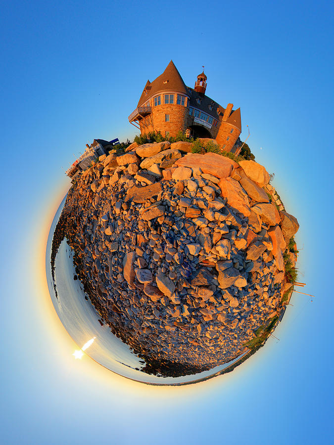 Towers Photograph - Narraganset Towers 2- Planet by Christopher Blake