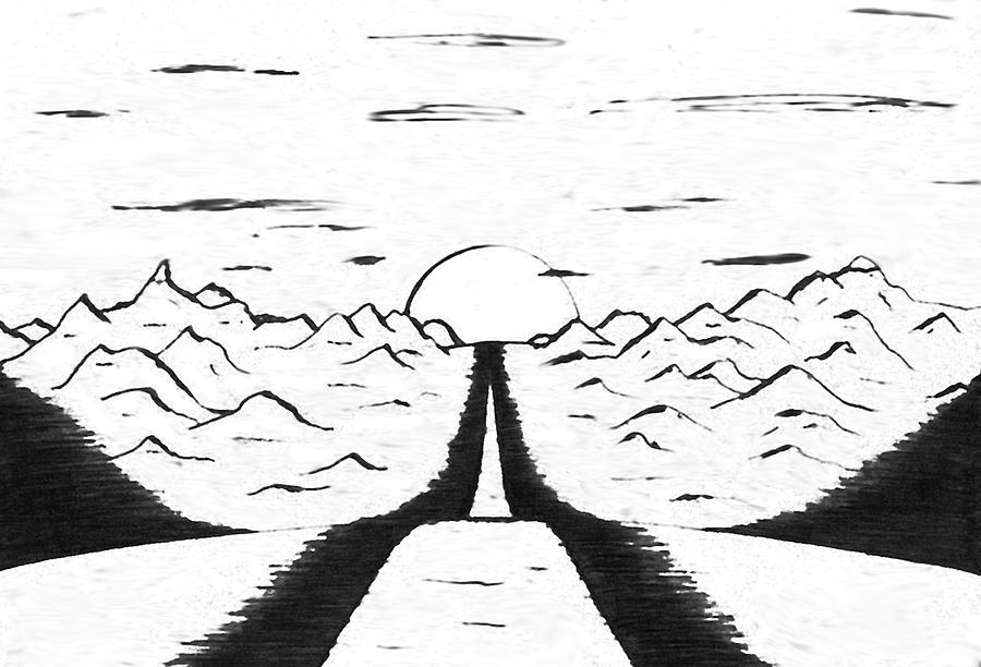Narrow Drawing - Narrow Gate by Adam Wells