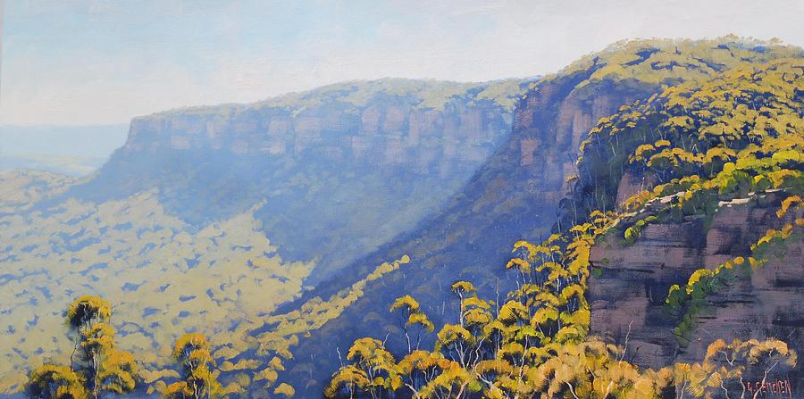Blue Mountains Painting - Narrow Neck Katoomba by Graham Gercken