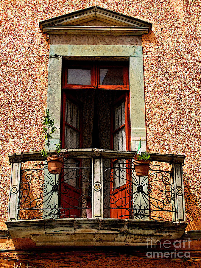 Darian Day Photograph - Narrow Red Window by Mexicolors Art Photography