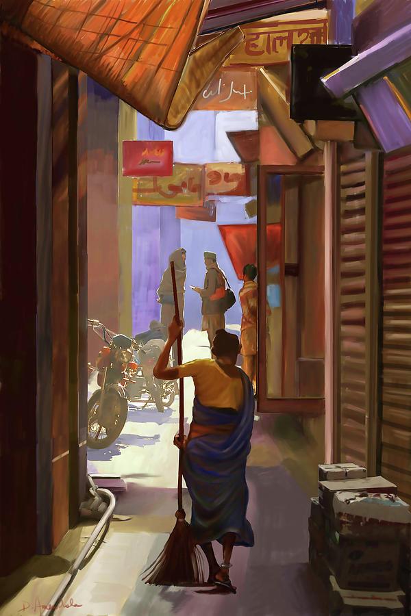 Narrow Street in India by Dominique Amendola
