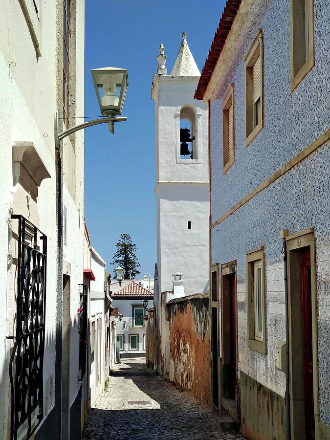 Tavira Photograph - Narrow Street in Tavira - Portugal by Barry O Carroll