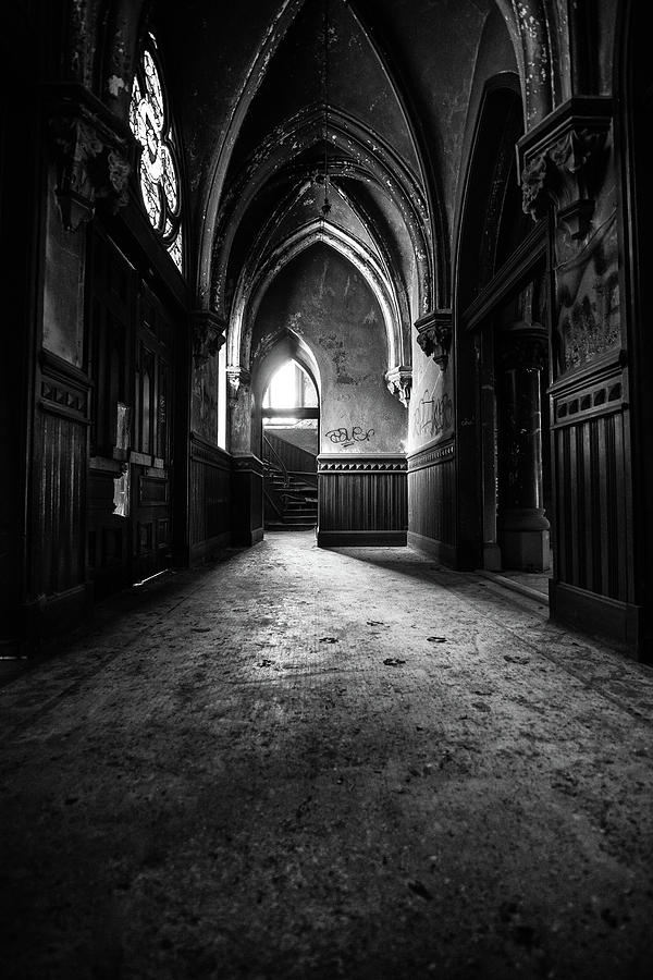 Abandoned Photograph - Narthex by Lindy Grasser