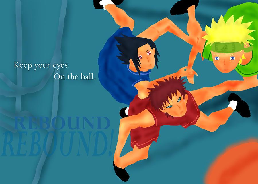 Naruto Mixed Media - Naruto Basket Gang by Irina Tjahjana