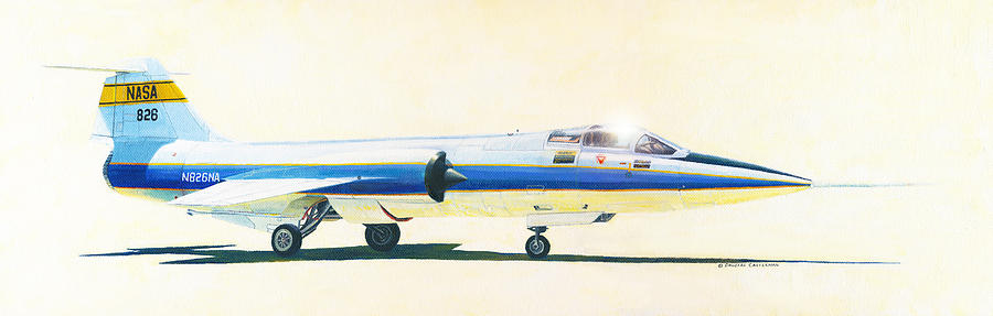 Nasa F-104 Starfighter Painting by Douglas Castleman
