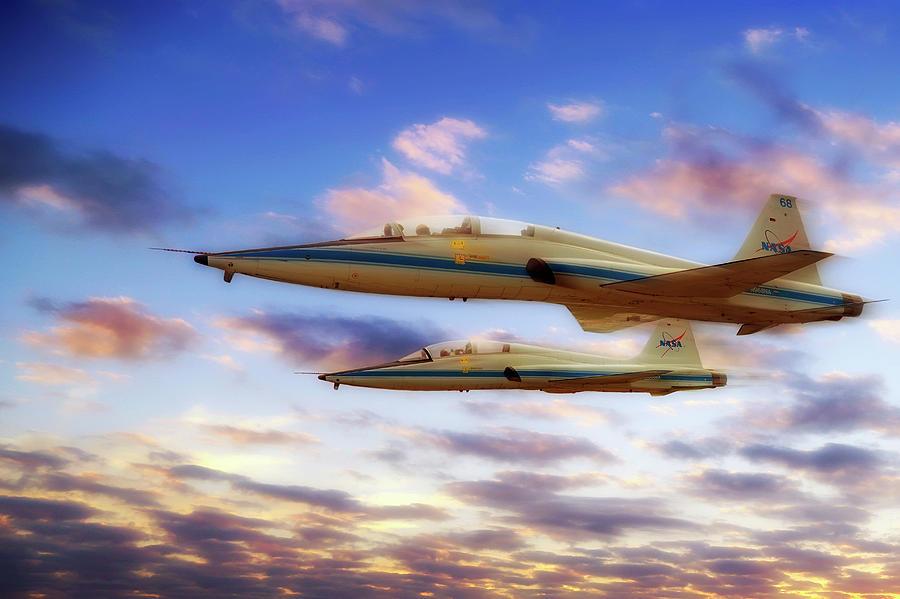 Nasa T-38 Talons at Sunrise - Pilot - Airplanes by Jason Politte