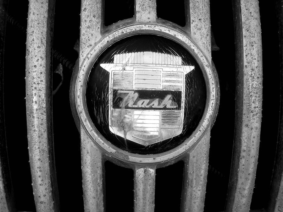 Car Photograph - Nash Emblem by Audrey Venute
