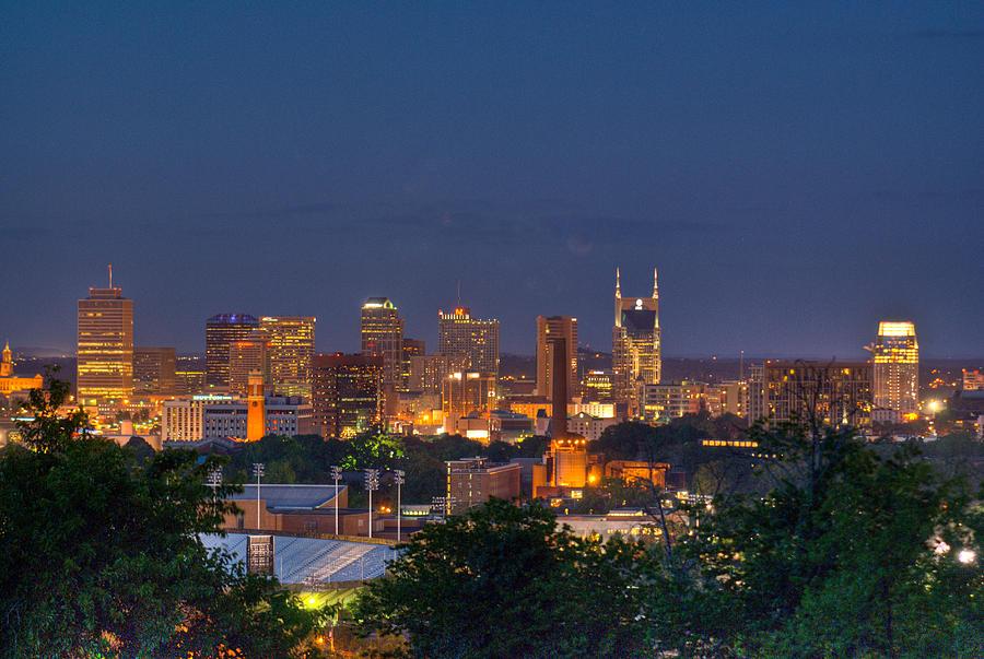 Nashville Photograph - Nashville By Night 2 by Douglas Barnett