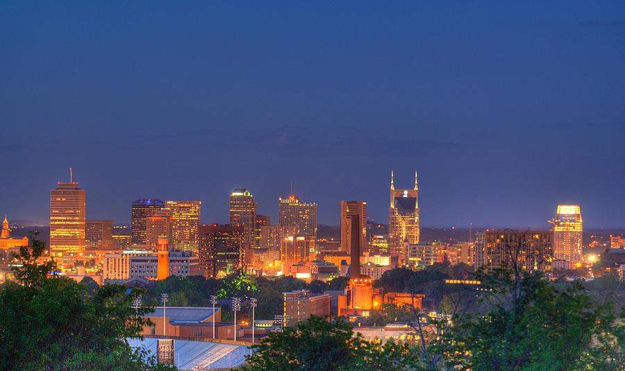 Nashville Photograph - Nashville By Night by Douglas Barnett