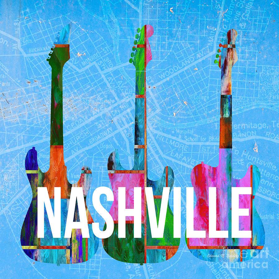 Nashville Photograph - Nashville Guitars by Edward Fielding