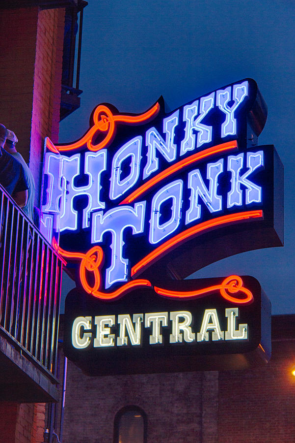 Stage Photograph - Nashville Honky Tonk Central by Mike Burgquist