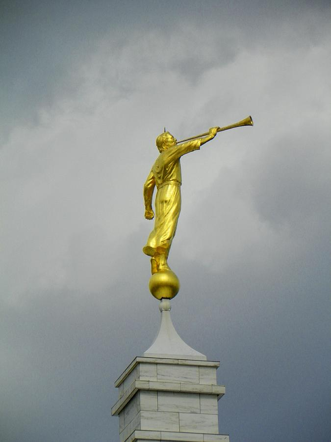 Temple Photograph - Nashville Moroni by Mark Cheney