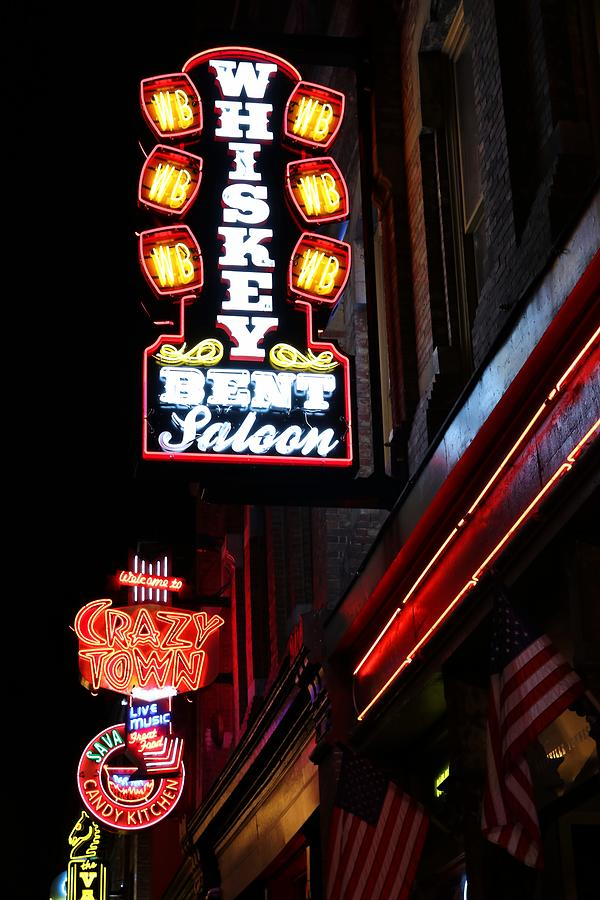 Neon Signs Photograph - Nashville Neon Signs  by Carol Montoya