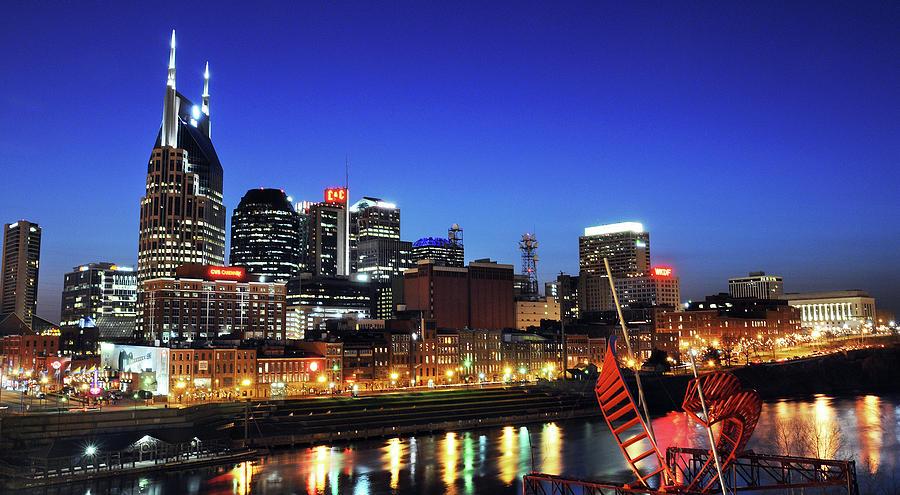 Nashville Photograph - Nashville Skyline by Giffin Photography
